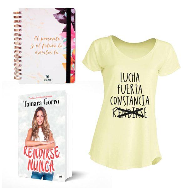 Super Pack:  Agenda TG 2020 + Libro Rendirse Nunca + Camiseta