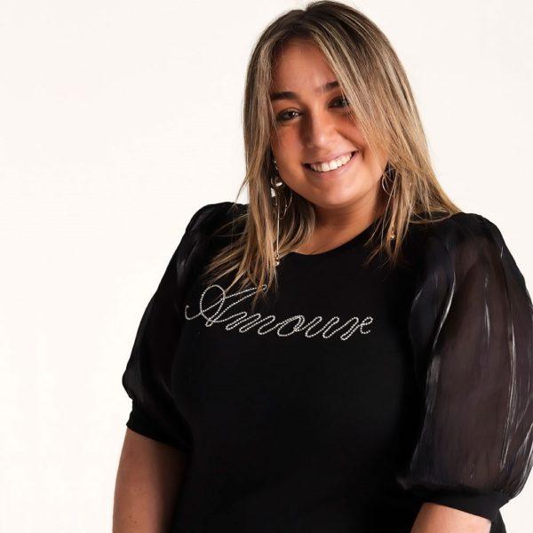 Camiseta Amour Negra